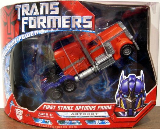 First Strike Optimus Prime Voyager Class