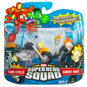 Flame Cycle and Ghost Rider Super Hero Squad action figures