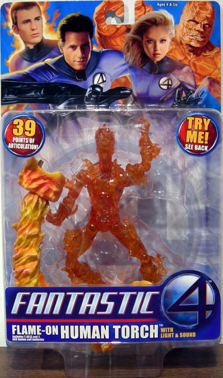 Flame-On Human Torch Fantastic 4 Movie action figure