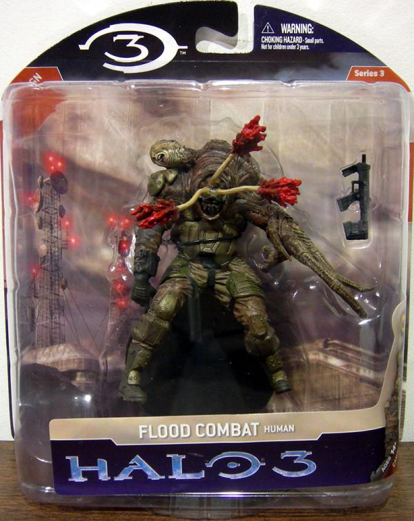 Flood Combat Human Halo 3 Series 3 action figure