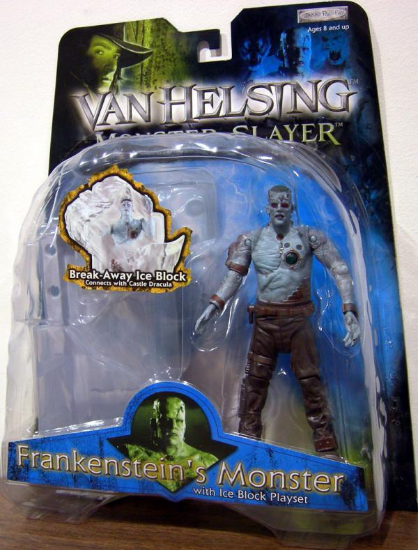 Frankensteins Monster Ice Block Playset Van Helsing action figure