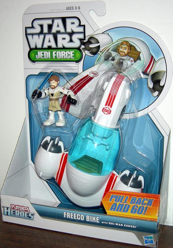 FREECO Bike Vehicle with Obi-Wan Kenobi Action Figure Playskool Heroes