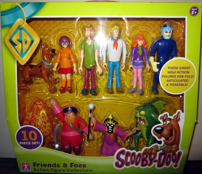 Scooby-Doo Friends Foes 10-Pack Action Figures Collection