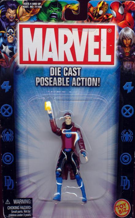 Gambit Figure Die Cast Poseable Toy Biz