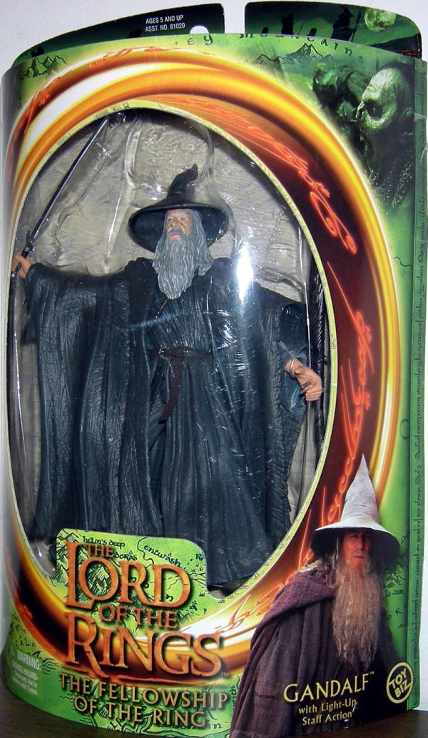Gandalf Figure Lord Rings Fellowship Ring Toy Biz