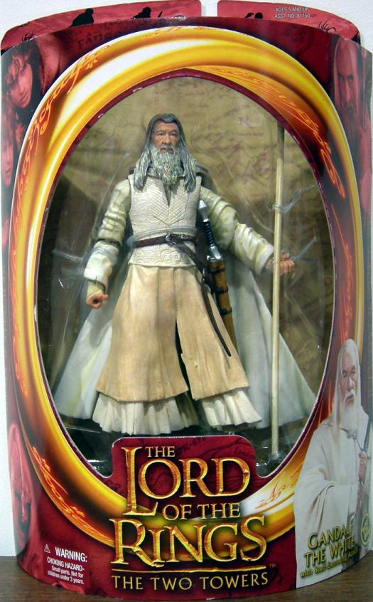Gandalf White The Two Towers Action Figure Toy Biz