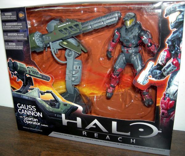 Warthog Gauss Cannon Spartan Operator Custom Halo action figure