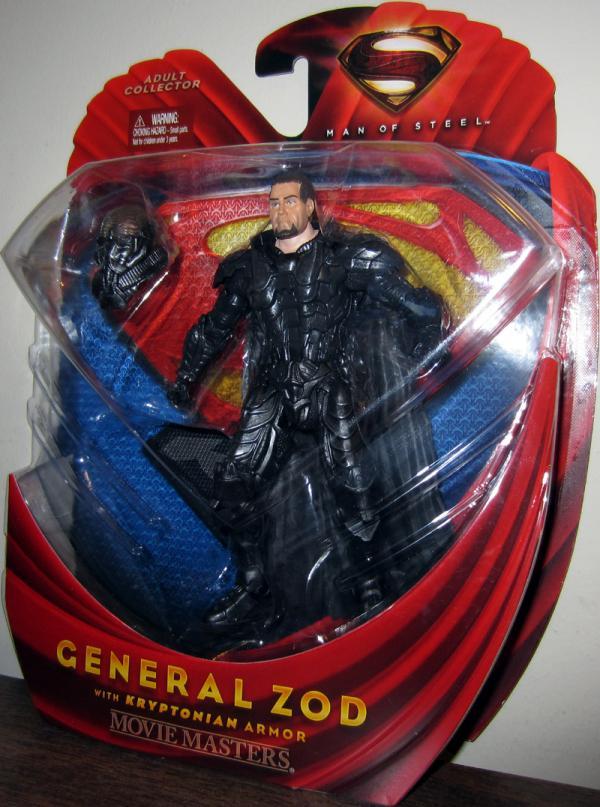 General Zod Kryptonian Armor Man Steel Movie Masters action figure