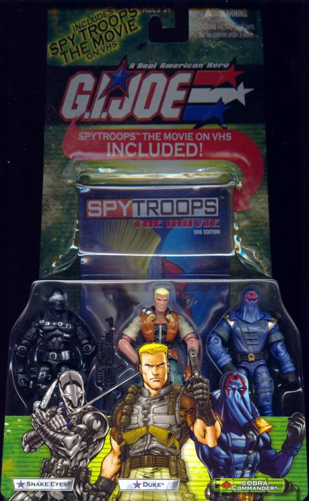 Snake Eyes, Duke Cobra Commander 3-Pack VHS video