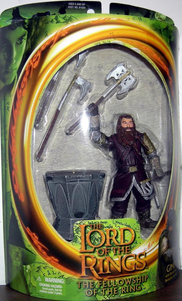 Gimli Figure Lord Rings Fellowship Ring