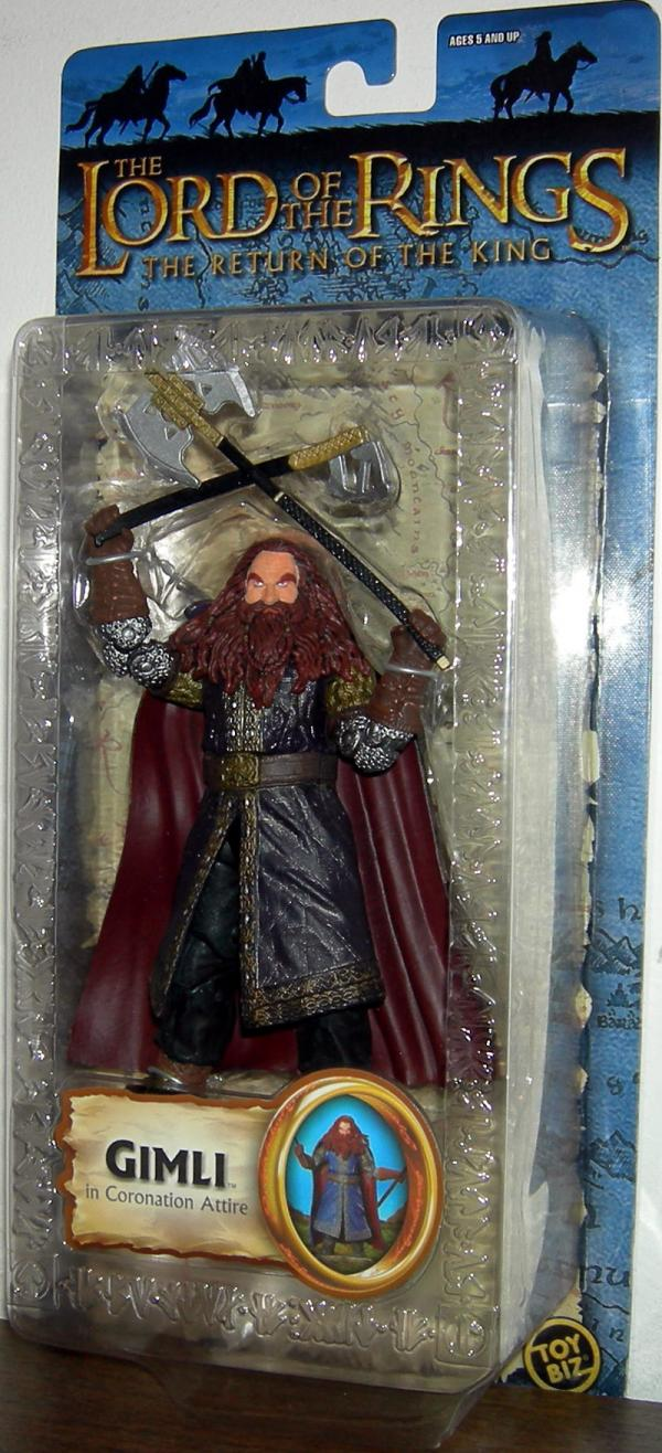 Gimli Coronation Attire Figure Lord Rings Return King Trilogy