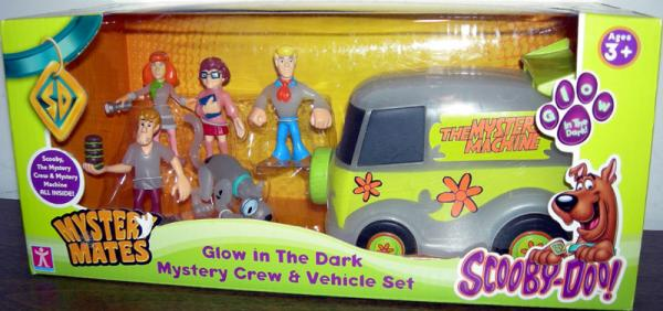 Glow Dark Mystery Crew Vehicle Set Mystery Mates