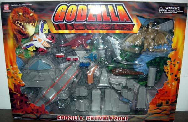 Godzilla Crumble Zone Figures Playset Bandai