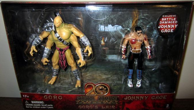 Goros Lair Figure Playset Mortal Kombat Johnny Cage Jazwares