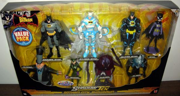 Gotham City Showdown 8-Pack ShadowTek Batman action figures