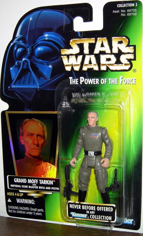 Grand Moff Tarkin Figure Green Card Collection 3 Star Wars Power Force