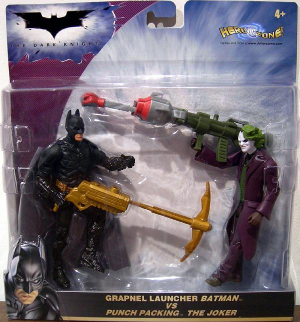 Grapnel Launcher Batman vs Punch Packing Joker 2-Pack Dark Knight