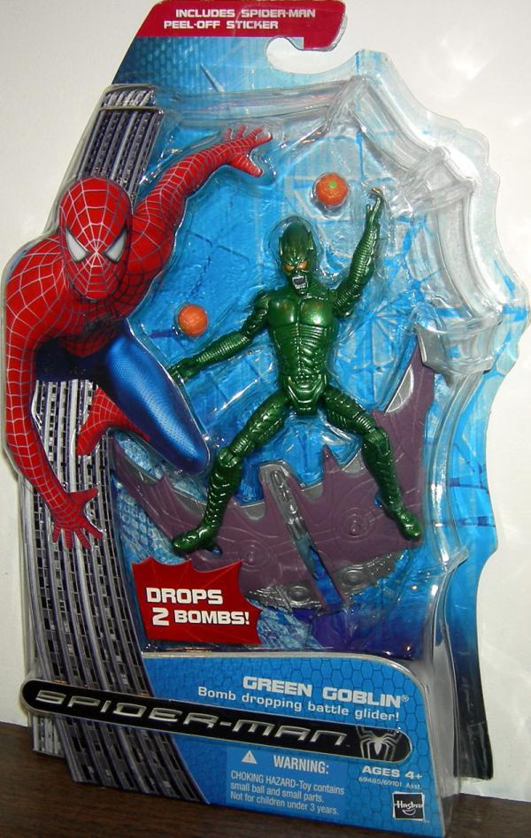 Green Goblin Figure Bomb Dropping Battle Glider Spider-Man