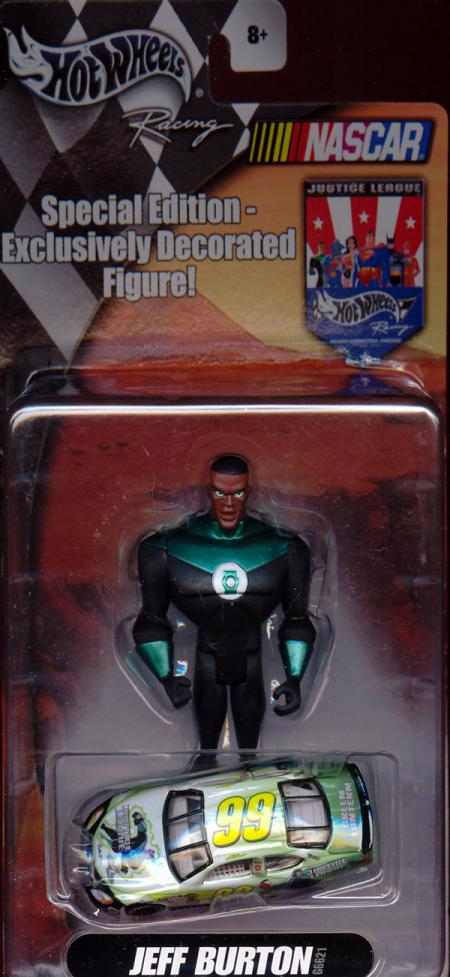 Green Lantern Figure Jeff Burton Hot Wheel Mattel