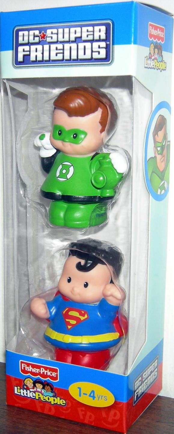 Little People DC Super Friends Green Lantern Superman 2-Pack