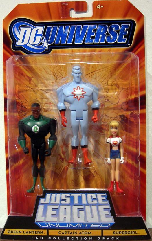 Green Lantern, Captain Atom Supergirl 3-Pack