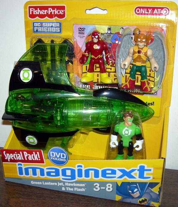 Green Lantern Jet Hawkman Flash Action Figures Fisher-Price
