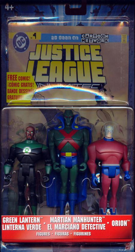 Green Lantern, Martian Manhunter Orion, Justice League Unlimited