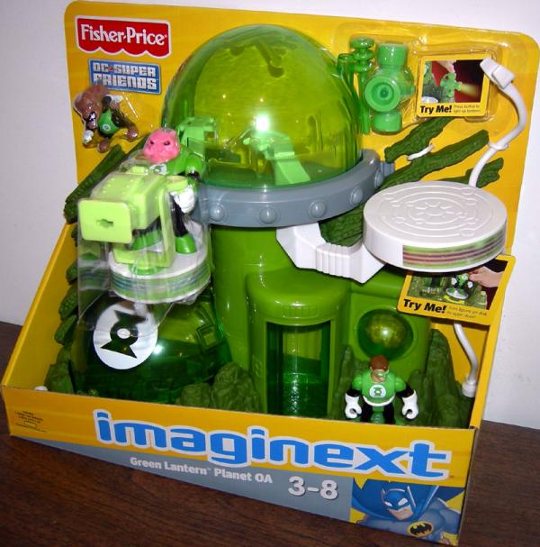 Green Lantern Planet OA Playset Imaginext DC Super Friends