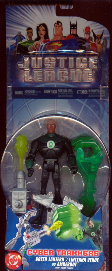 Green Lantern vs Amberbot Cyber Trakkers