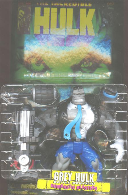 Grey Hulk Battle Damaged Action Figure Toy Biz