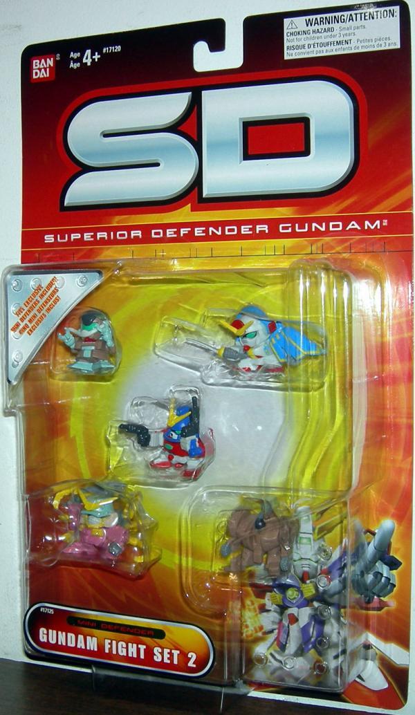 Gundam Fight Set 2 SD Superior Defender Action Figures