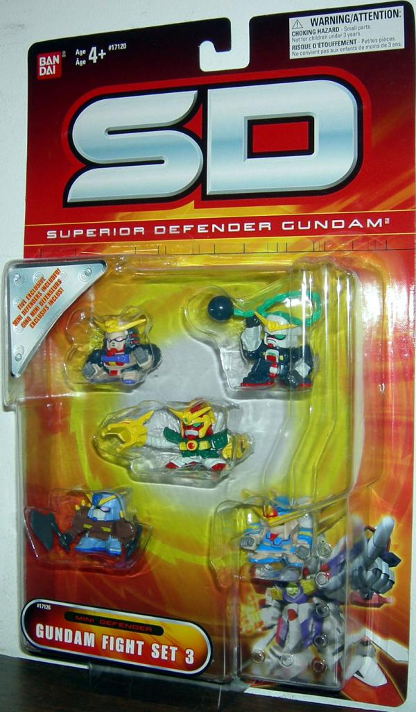 Gundam Fight Set 3 Figures SD Superior Defender Bandai