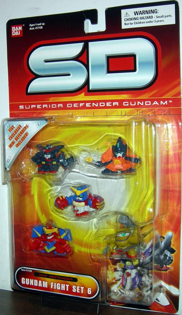 Gundam Fight Set 6 Action Figures SD Superior Defender Bandai