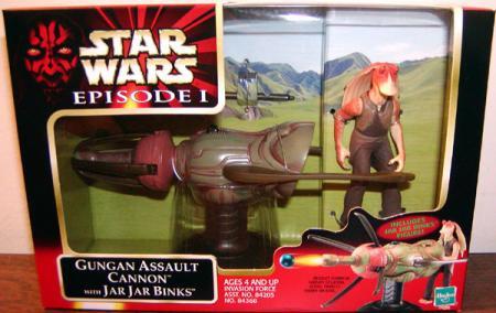 Gungan Assault Cannon Jar Jar Binks action figure