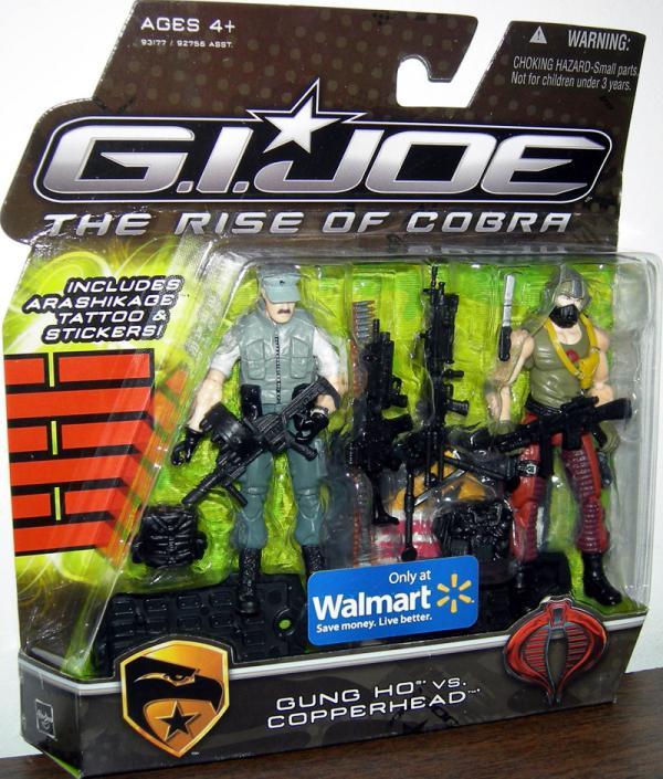 Gung Ho vs Copperhead Rise Cobra action figures
