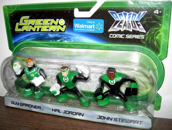 Guy Gardner Hal Jordan John Stewart Action League figures