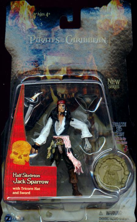 Half Skeleton Jack Sparrow 3 1-2 inch
