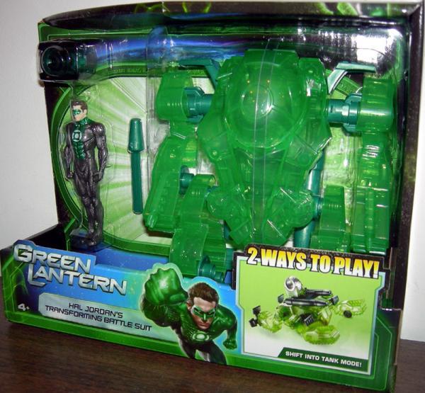 Hal Jordans Transforming Battle Suit Green Lantern Mattel