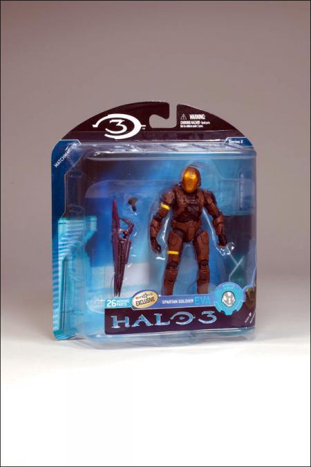 Brown Spartan Soldier Figure EVA Halo 3 Series 2 McFarlane Toys
