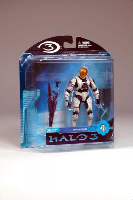 White Spartan Soldier EVA Halo 3 Series 2 action figure