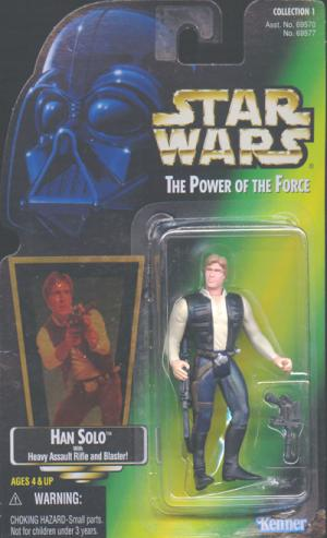 Han Solo Green Card Star Wars Power Force action figure
