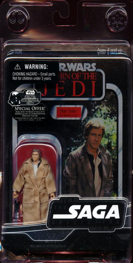 Han Solo Trench Coat Figure Vintage Saga Collection Star Wars