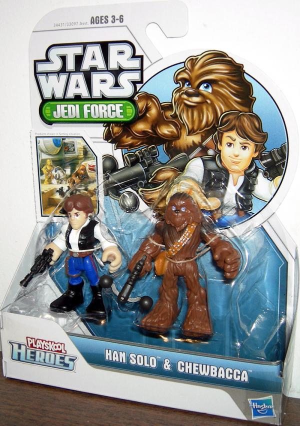 Han Solo Chewbacca Playskool Heroes