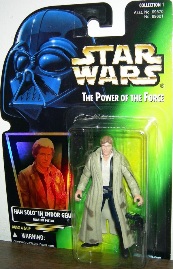 Han Solo Endor Gear Green Card Blue Pants Star Wars action figure