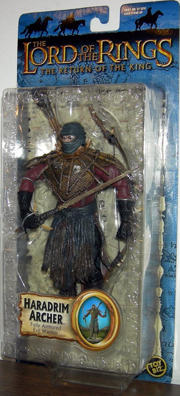 Haradrim Archer Figure Lord Rings Trilogy Toy Biz