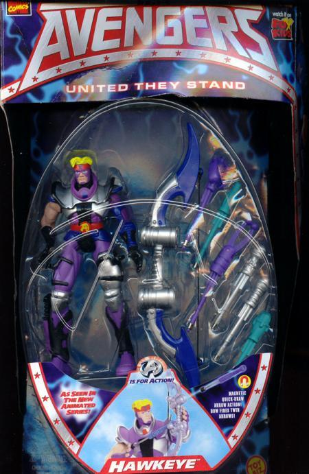 Hawkeye Avengers Figure Animated Series Toy Biz