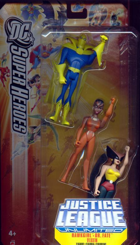 Hawkgirl Dr Fate Vixen Figures DC SuperHeroes JLU