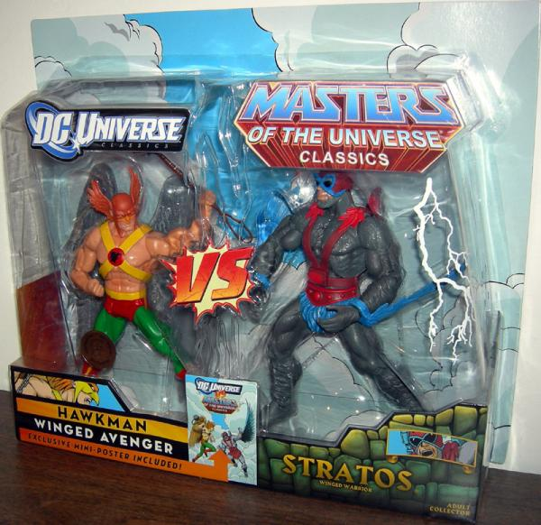Hawkman vs Stratos action figures
