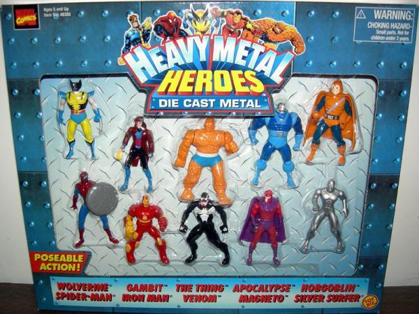 Heavy Metal Heroes Die Cast 10-Pack action figures