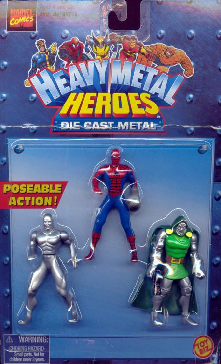Heavy Metal Heroes 3-Pack Spider-Man, Silver Surfer Dr Doom